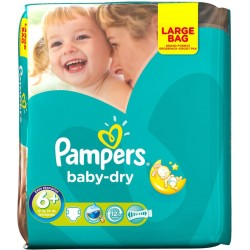 Pampers - 30 Couches Baby Dry taille 6+ sur Les Couches