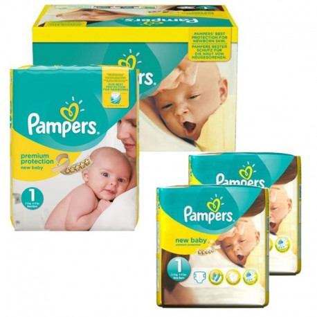 Pampers - Pack jumeaux 576 Couches New Baby Premium Protection taille 1 sur Les Couches