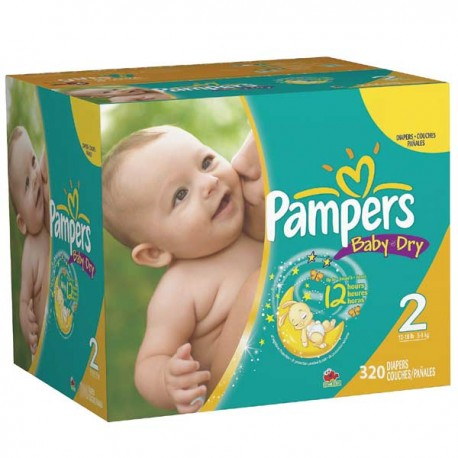 Pampers - Maxi mega pack 429 Couches Baby Dry taille 2 sur Les Couches