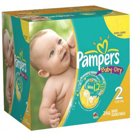 Pampers - Maxi mega pack 462 Couches Baby Dry taille 2 sur Les Couches