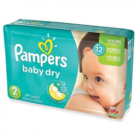 Pampers - Maxi mega pack 495 Couches Baby Dry taille 2 sur Les Couches