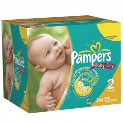 Pampers - Pack jumeaux 627 Couches Baby Dry taille 2