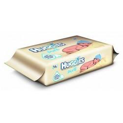 Huggies - 56 Lingettes Bébés Pure sur Les Couches