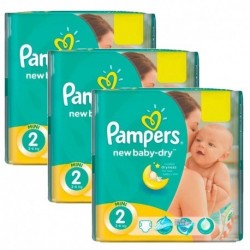 Pampers - Maxi giga pack 396 Couches New Baby Dry taille 2 sur Les Couches
