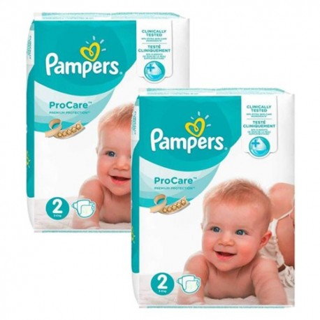 Pampers - Pack jumeaux 576 Couches ProCare Premium protection taille 2 sur Les Couches