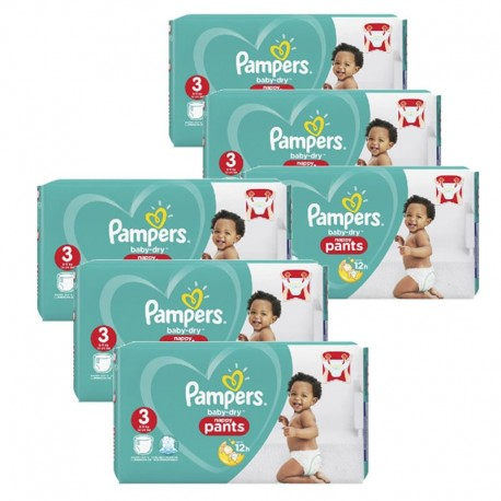 Pampers - Pack 52 Couches Baby Dry Pants taille 3 sur Les Couches