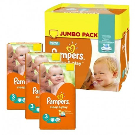 Pampers - Pack jumeaux 574 Couches Sleep & Play taille 3 sur Les Couches