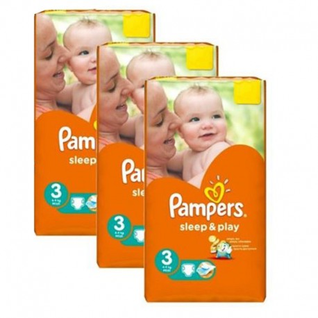 Pampers - Pack jumeaux 738 Couches Sleep & Play taille 3 sur Les Couches