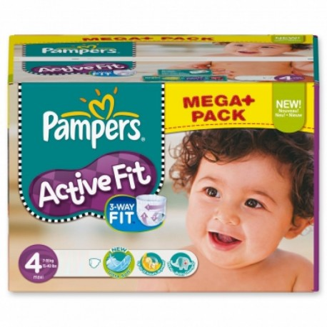Pampers - Pack 64 Couches Active Fit Pants taille 4 sur Les Couches