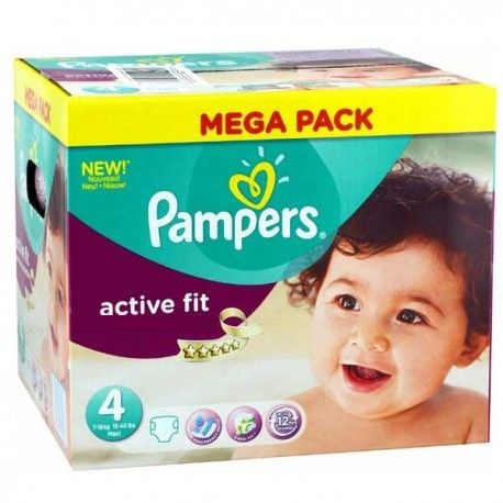 Pampers - Giga pack 256 Couches Active Fit Pants taille 4 sur Les Couches