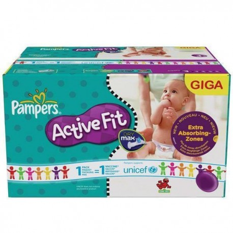 Pampers - Maxi giga pack 352 Couches Active Fit Pants taille 4 sur Les Couches