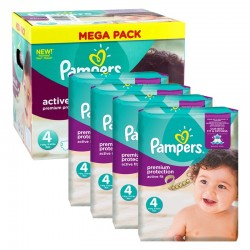 Pampers - Maxi mega pack 448 Couches Active Fit Pants taille 4