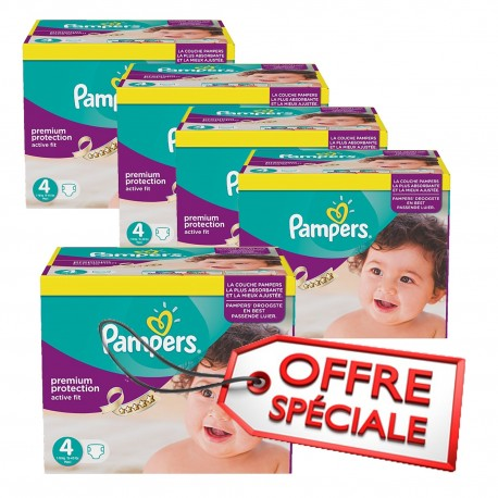 Pampers - Pack jumeaux 512 Couches Active Fit Pants taille 4 sur Les Couches