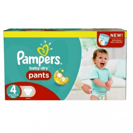 Pampers - Pack 92 Couches Baby Dry Pants taille 4 sur Les Couches