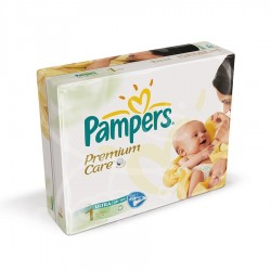 Pampers - 176 Couches Premium Care taille 1 sur Les Couches