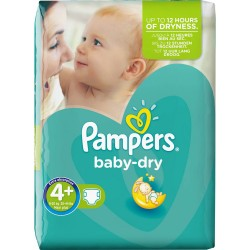 Pampers - 42 Couches Baby Dry taille 4+ sur Les Couches