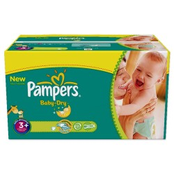 Pampers - 476 Couches Baby Dry taille 3+ sur Les Couches