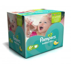 Pampers - 120 Couches Baby Dry taille 6+ sur Les Couches