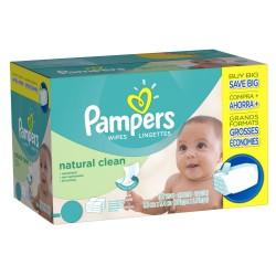 Pampers - 768 Lingettes Bébés Natural Clean sur Les Couches