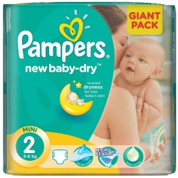 Pampers - 80 Couches New Baby Dry taille 2