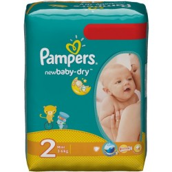 Pampers - 80 Couches New Baby Dry taille 2 sur Les Couches