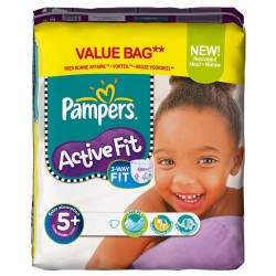 Pampers - 174 Couches Active Fit taille 5+ sur Les Couches