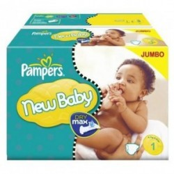 Pampers - 324 Couches New Baby Dry taille 1 sur Les Couches