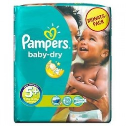 Pampers - 43 Couches Baby Dry taille 5+ sur Les Couches