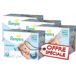 Pampers - 540 Couches New Baby Sensitive taille 2