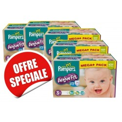 Pampers - 615 Couches Active Fit taille 3 sur Les Couches