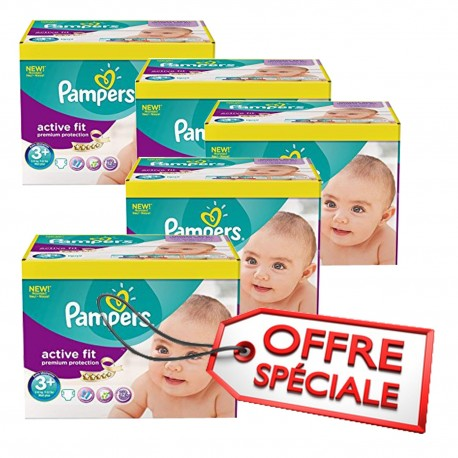 Pampers - 560 Couches Active Fit taille 3+ sur Les Couches