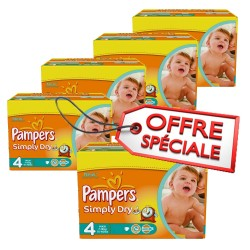 Pampers - 740 Couches Simply Dry taille 4 sur Les Couches