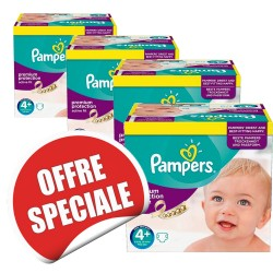 Pampers - 950 Couches Active Fit taille 4+ sur Les Couches