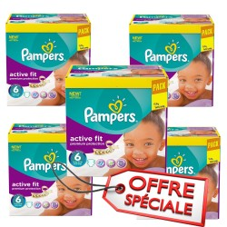 Pampers - 576 Couches Active Fit taille 6 sur Les Couches