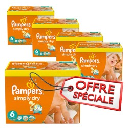 Pampers - 744 Couches Simply Dry taille 6 sur Les Couches