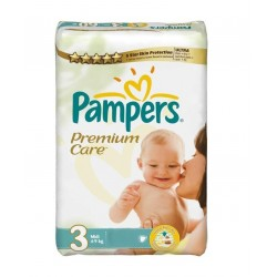Pampers - 56 Couches Premium Care Pants taille 3 sur Les Couches