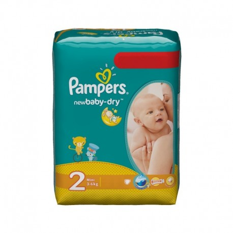 Pampers - Paquet 68 Couches New Baby Dry taille 2 sur Les Couches