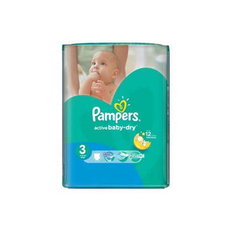 Pampers - 74 Couches Active Baby Dry taille 3 sur Les Couches