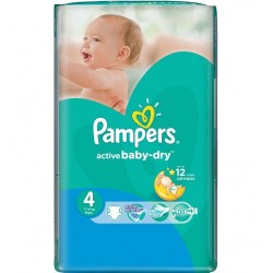 Pampers - 76 Couches Active Baby Dry taille 4 sur Les Couches