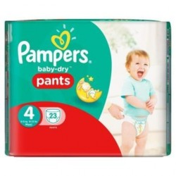 Pampers - 23 Couches Baby Dry Pants taille 4