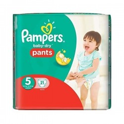 Pampers - 21 Couches Baby Dry Pants taille 5