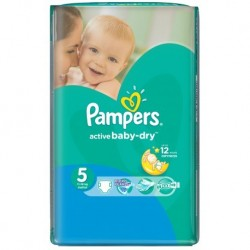 Pampers - 58 Couches Active Baby Dry taille 5