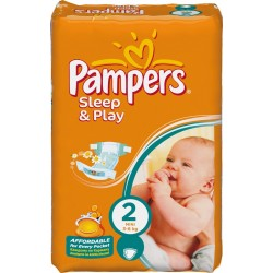 Pampers - 18 Couches Sleep & Play taille 2 sur Les Couches