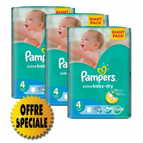 Pampers - 522 Couches Active Baby Dry taille 4 sur Les Couches