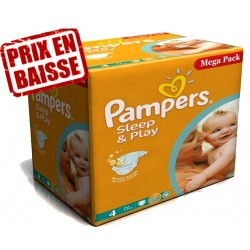 Pampers - 250 Couches Sleep & Play taille 4 sur Les Couches