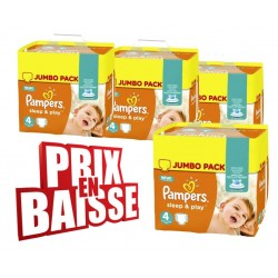Pampers - 550 Couches Sleep & Play taille 4 sur Les Couches