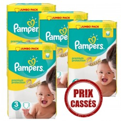 Pampers - 330 Couches Premium Protection 3 sur Les Couches