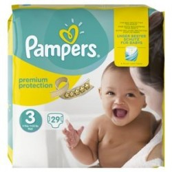 Pampers - 29 Couches Premium Protection 3