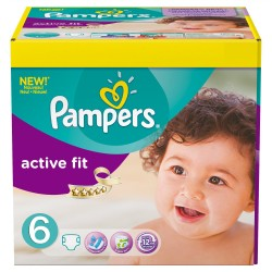 Pampers - 124 Couches Active Fit 6 sur Les Couches