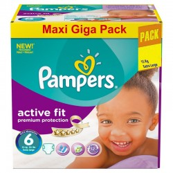 Pampers - 248 Couches Active Fit taille 6 sur Les Couches